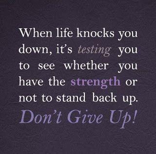 When life knocks you down...via www.9quote.com
