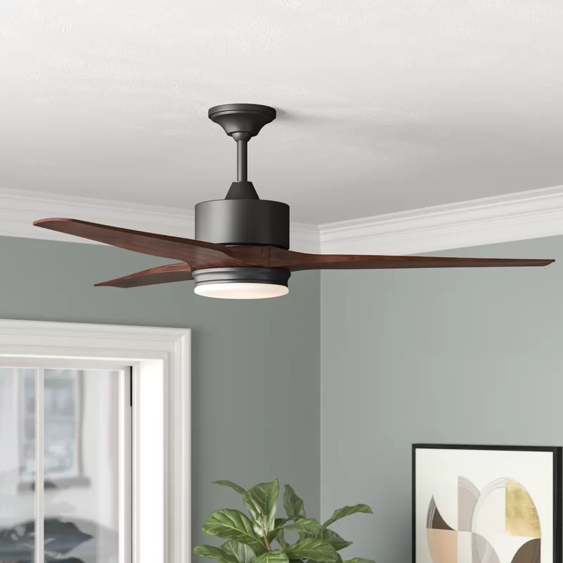 "60"" Paige 3 Blade Outdoor LED Standard Ceiling Fan with"