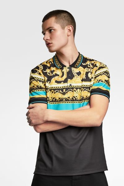 7b38bce59f Baroque printed polo shirt in 2019 | Products | Printed polo shirts ...