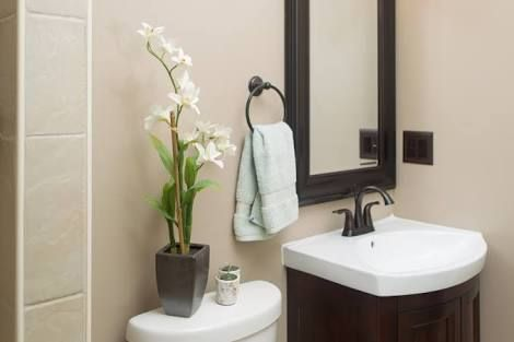 decorate small bathroom - Google Search
