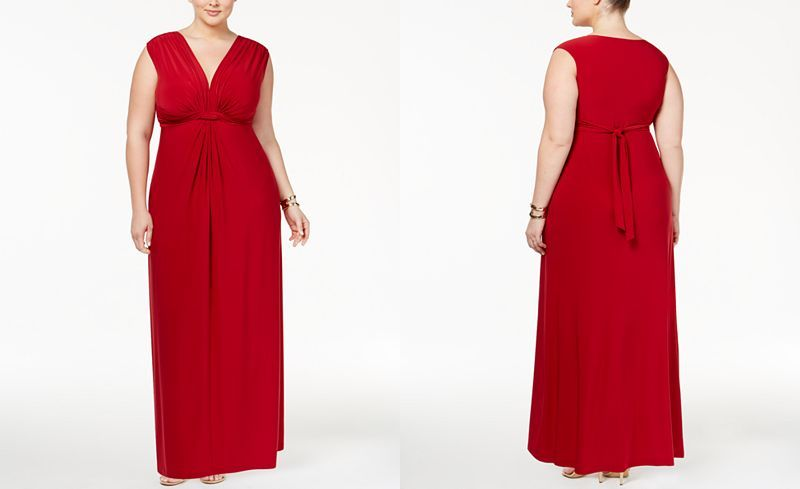 7ada684ea4f87 Love Squared Trendy Plus Size Sleeveless Knotted Maxi Dress - Dresses - Plus  Sizes - Macy s