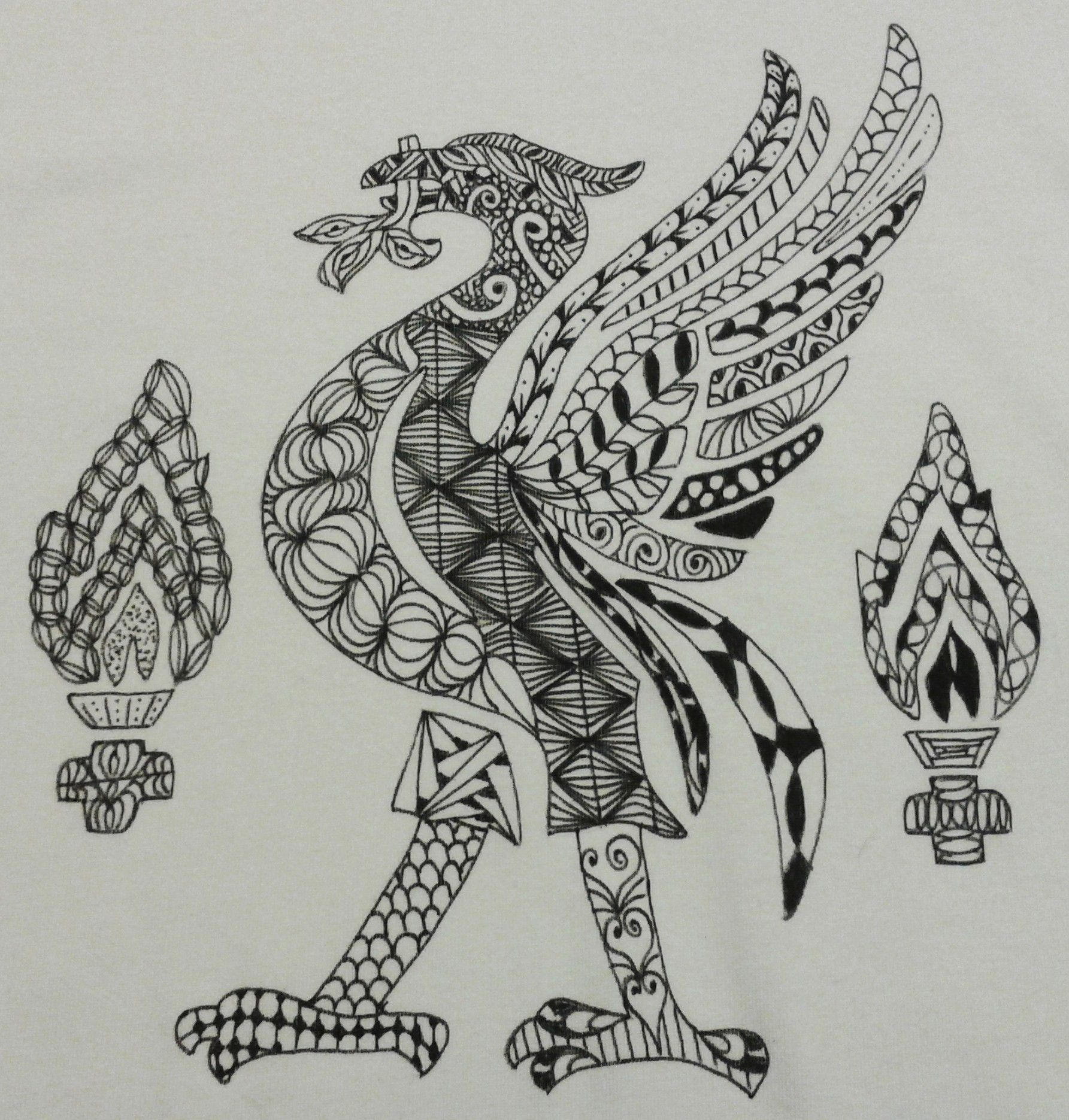 Design your own t shirt liverpool -  Zentangle Inspired T Shirt Design Liverpool Football Club Logo Designed