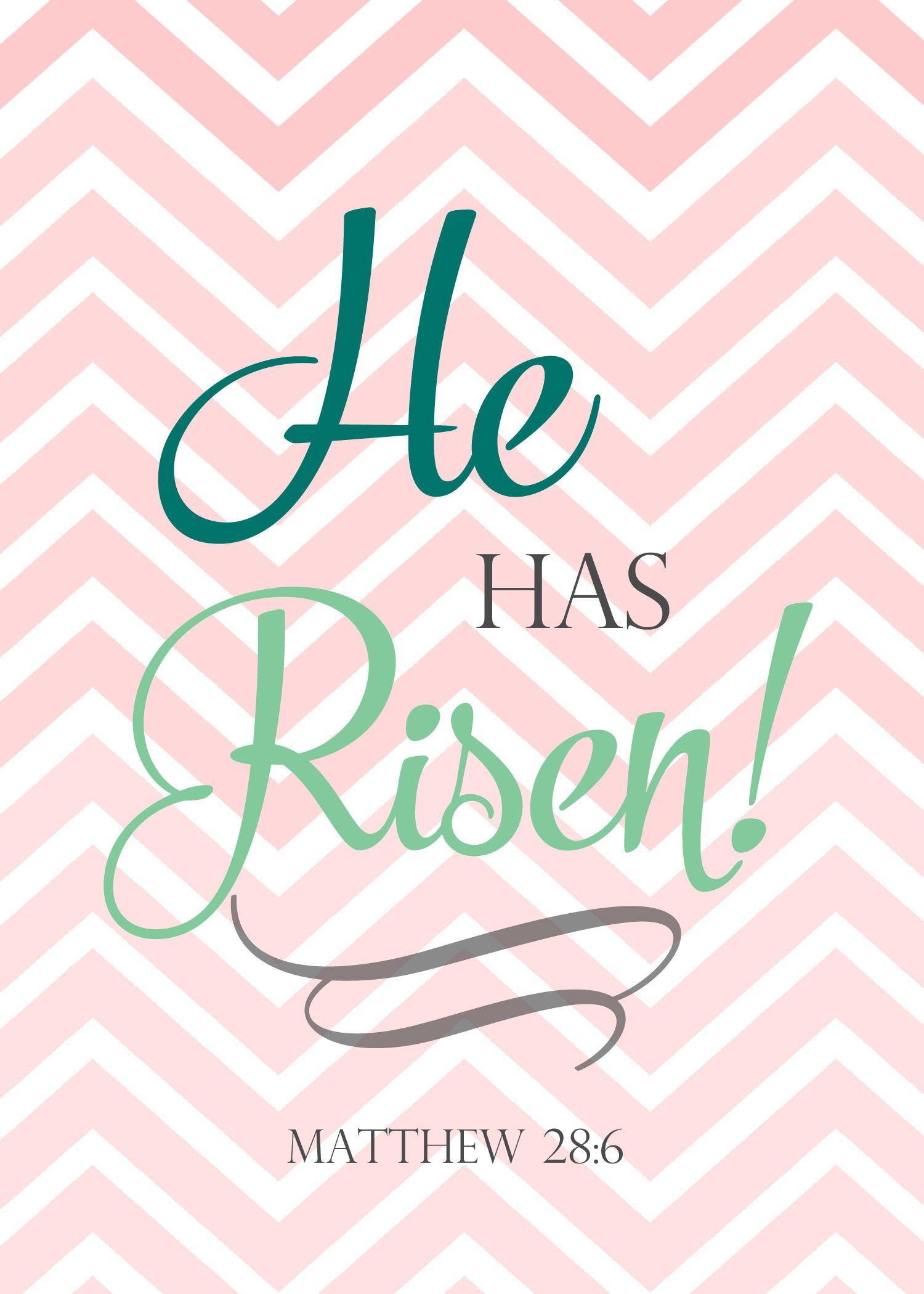 easter printable he is risen christian easter decorations wwwwildgracewomencom - Christian Easter Decorating Ideas