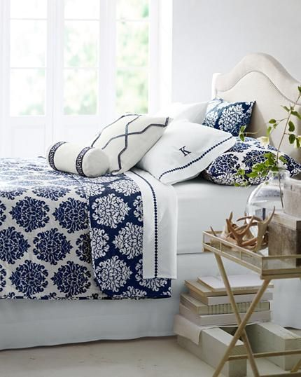 Best Mix And Match White And Blue Bedding For A Clean Fresh 640 x 480