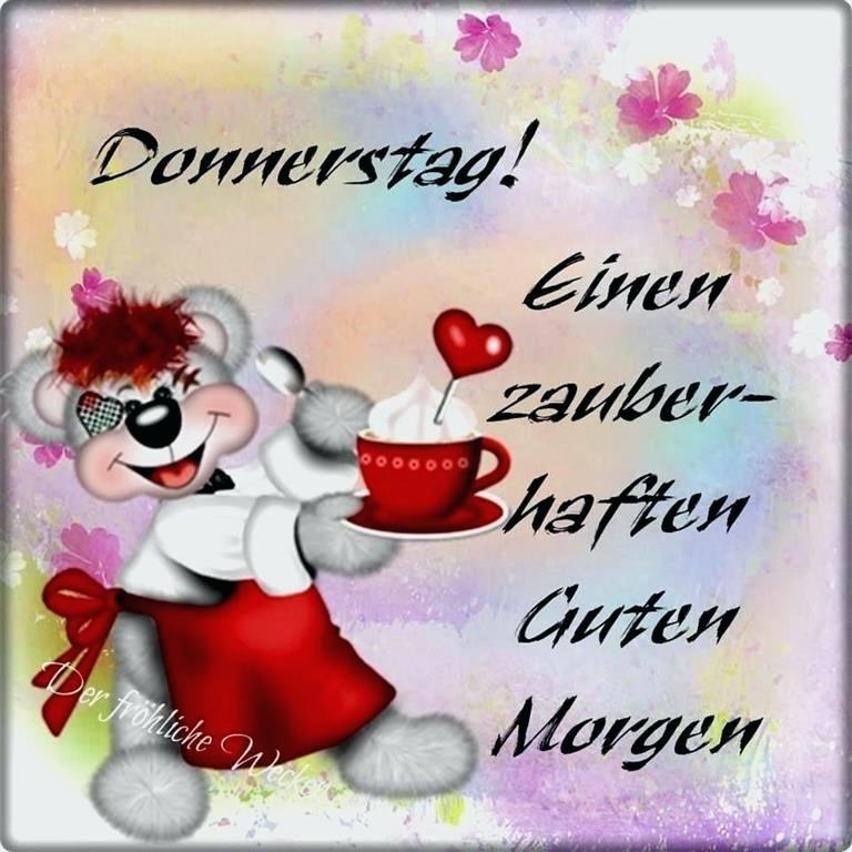 Donnerstag Guten Morgen Grüße