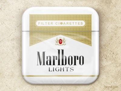 Marlboro Light Ios icon, Mobile app icon, Ios app icon