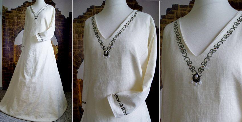 Mittelalterkleid Maßanfertigung Gewandschneider Brautkleid Hochzeitskleid Mittelalter Gewand Braut Gewandungen