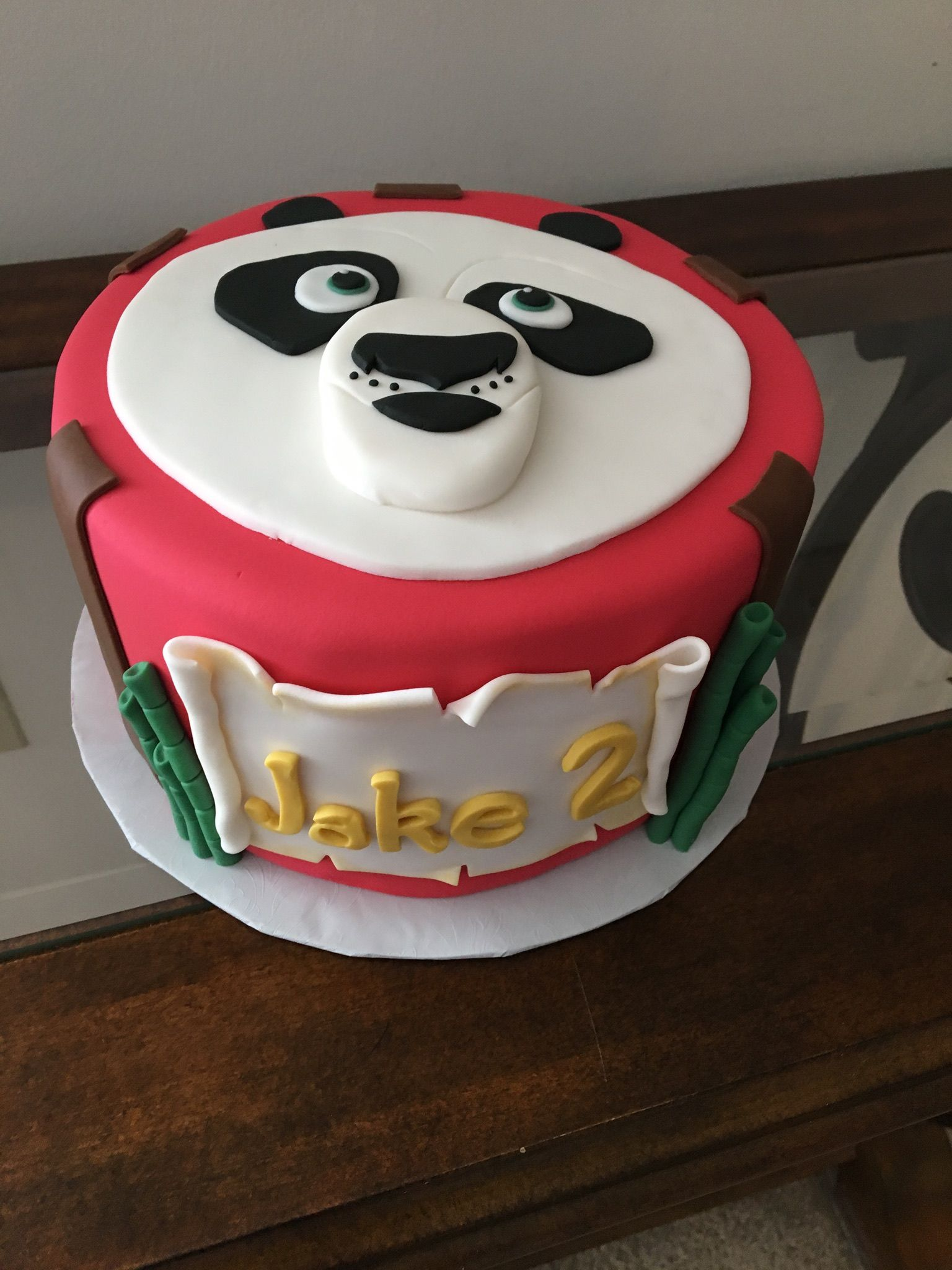 Kung Fu Panda Birthday Cake Birthday Cakes Pinterest