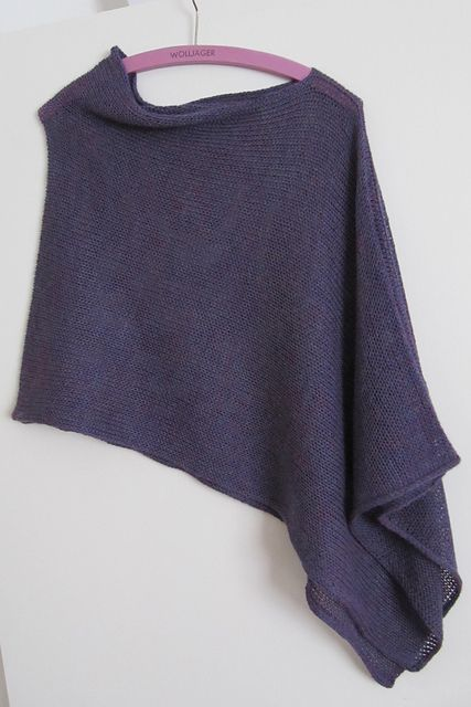 Ladies Easy Knit Poncho and Scarf Beginners Knitting  Pattern