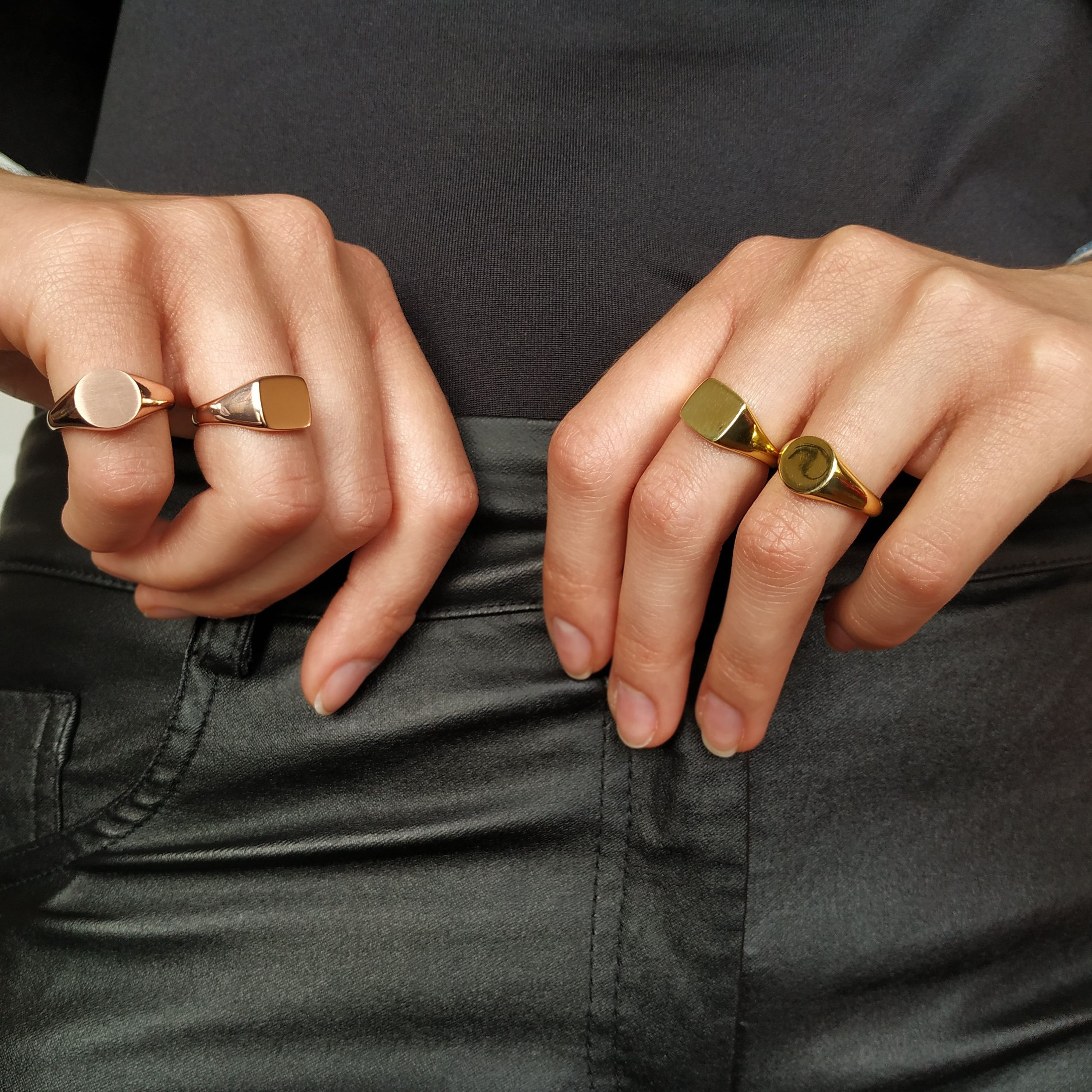 Oval, Round, Square Chevalier Ring