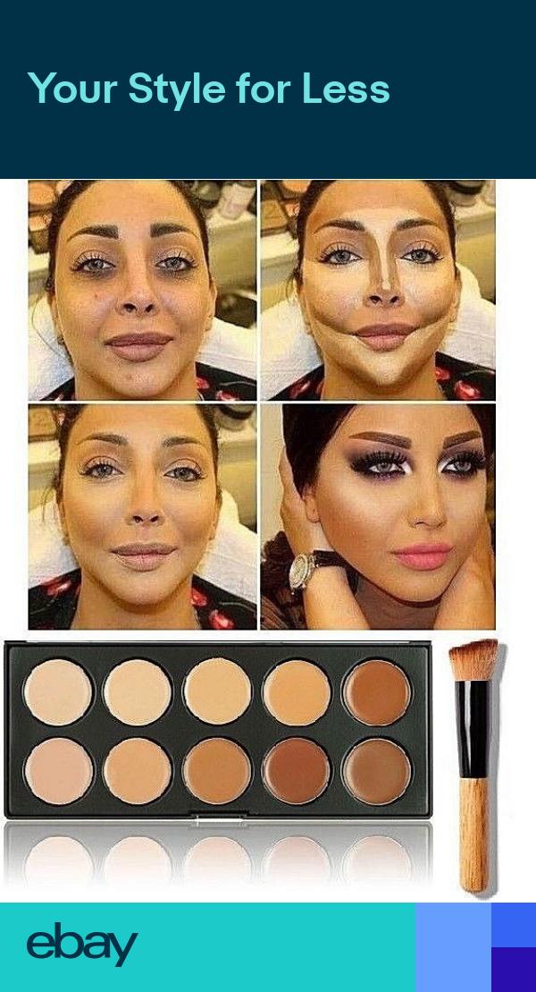 10 Colors Contour Face Makeup Kit Concealer Foundation