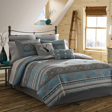 True Timber Southwest Bedding Comforter Set Teal