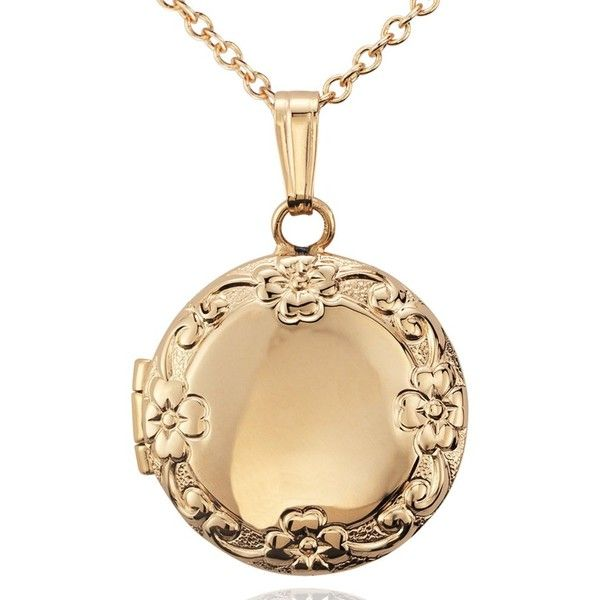 Blue Nile Petite Round Floral Locket in 14k Yellow Gold XBnbs