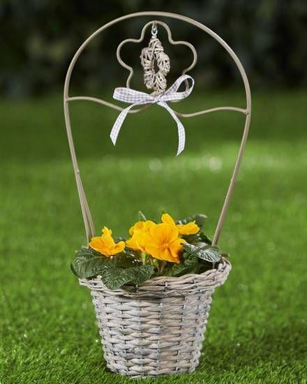 Weiden-Pflanzkorb »mit Griff« Garten Pinterest Garten - solarleuchten garten antik