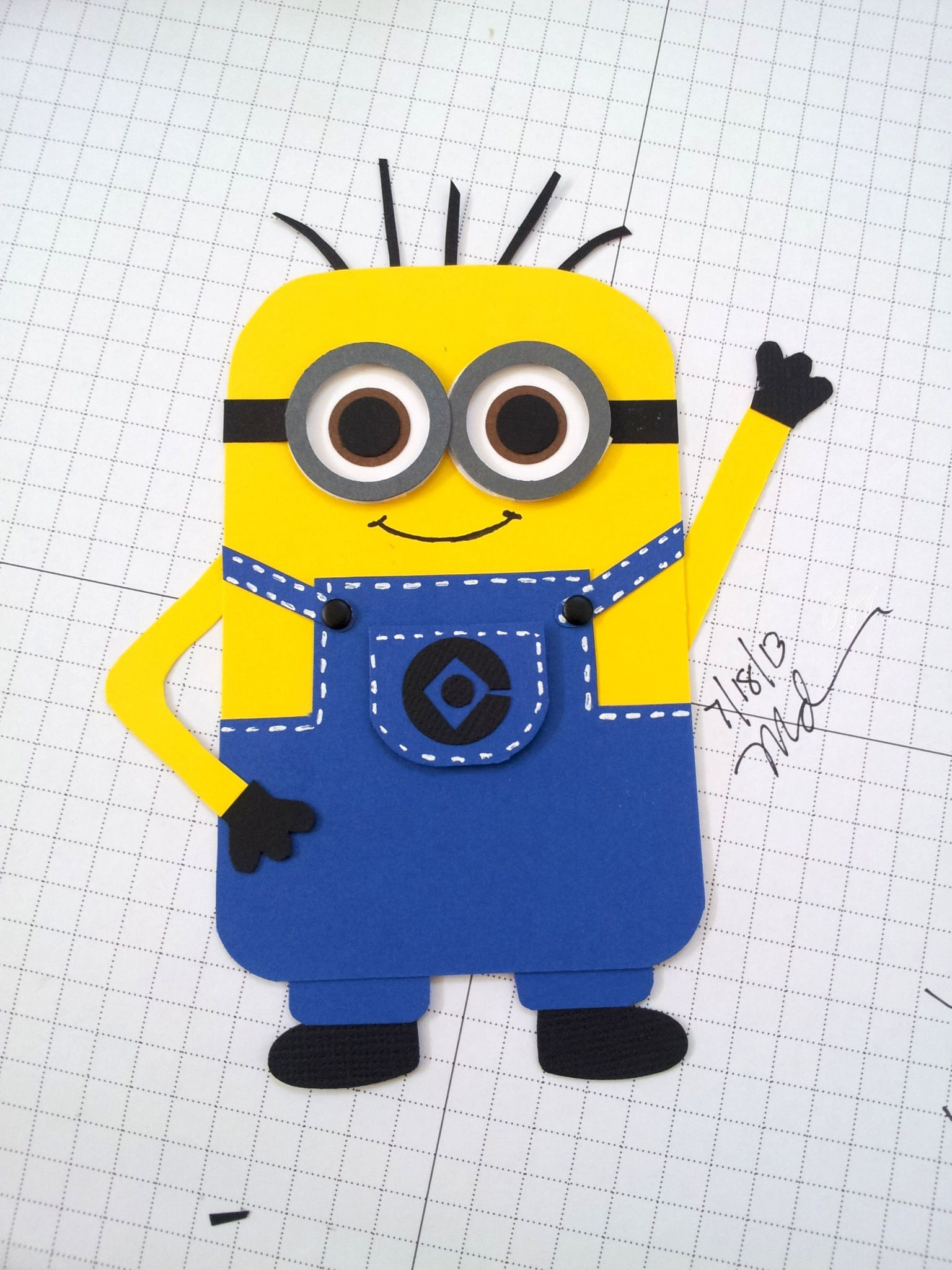 Despicable Me Minion My Cards Pinterest Punch Art Cards And