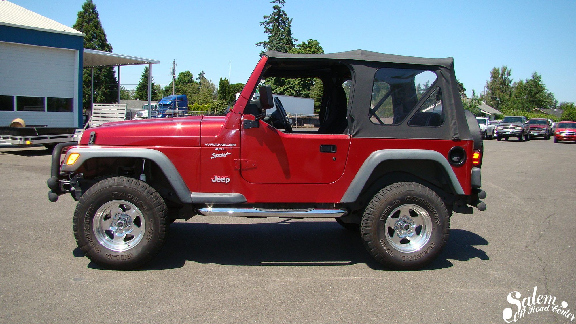 """On this 1999 Jeep TJ we installed a BDS Suspension 2"""" lift"""