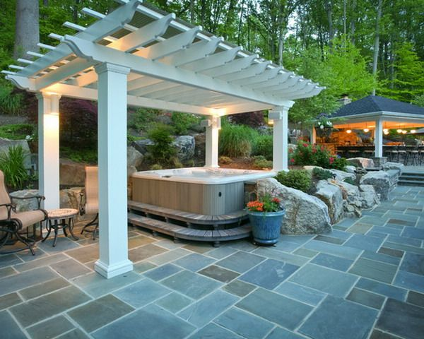 images about hot tub ideas on   hot tub deck, Backyard Ideas