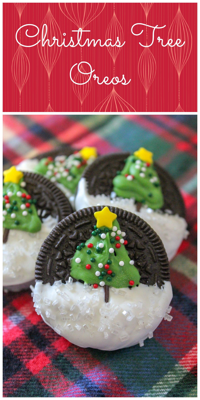 Christmas Tree Decorated Oreo Cookies