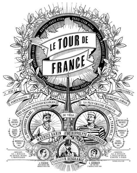Tour de France 1903 www.boxerbranddesign.com/blog