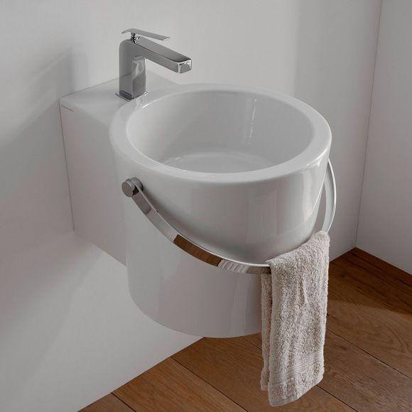 scarabeo-bucket-aufsatz-oder-haengewaschbecken-b-30-t-40-cm-weiss - badmöbel kleines badezimmer