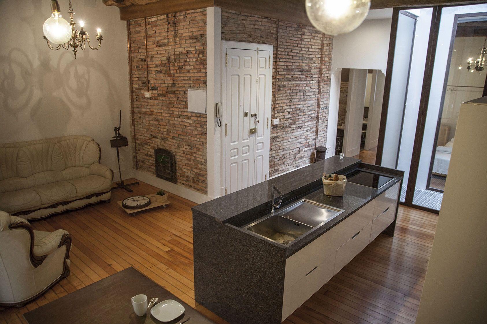 Cocina Sal N Abierto Ad Espa A Airbnb Cocinas Pinterest  # Muebles Requejo