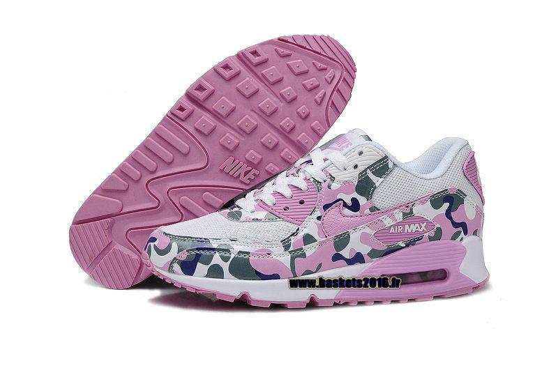 best cheap 7b766 e7108 Nike Air Max 90 VT Boutique Officielle Chaussures de Running Pour Femme  Rose - Blanc - Vert - Bleu