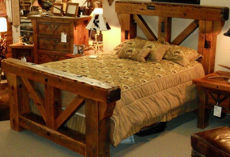 Fabulous Barnwood Bedroom Furniture Rustic Bed Frames