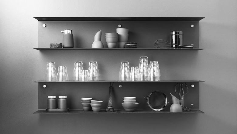 etagere murale metal cuisine kitchen