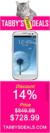 Samsung Galaxy S III/S3 GT-I9300 Factory Unlocked Phone - International Version (Ceramic White) $728.99