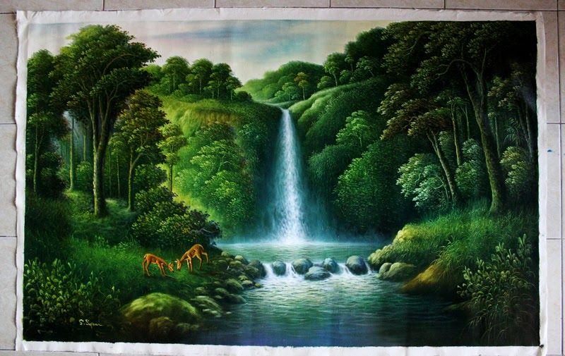 Gambar Lukisan Pemandangan Alam Indah Gambar Alam Nan Indah Gambar Lukisan Pemandangan Alam