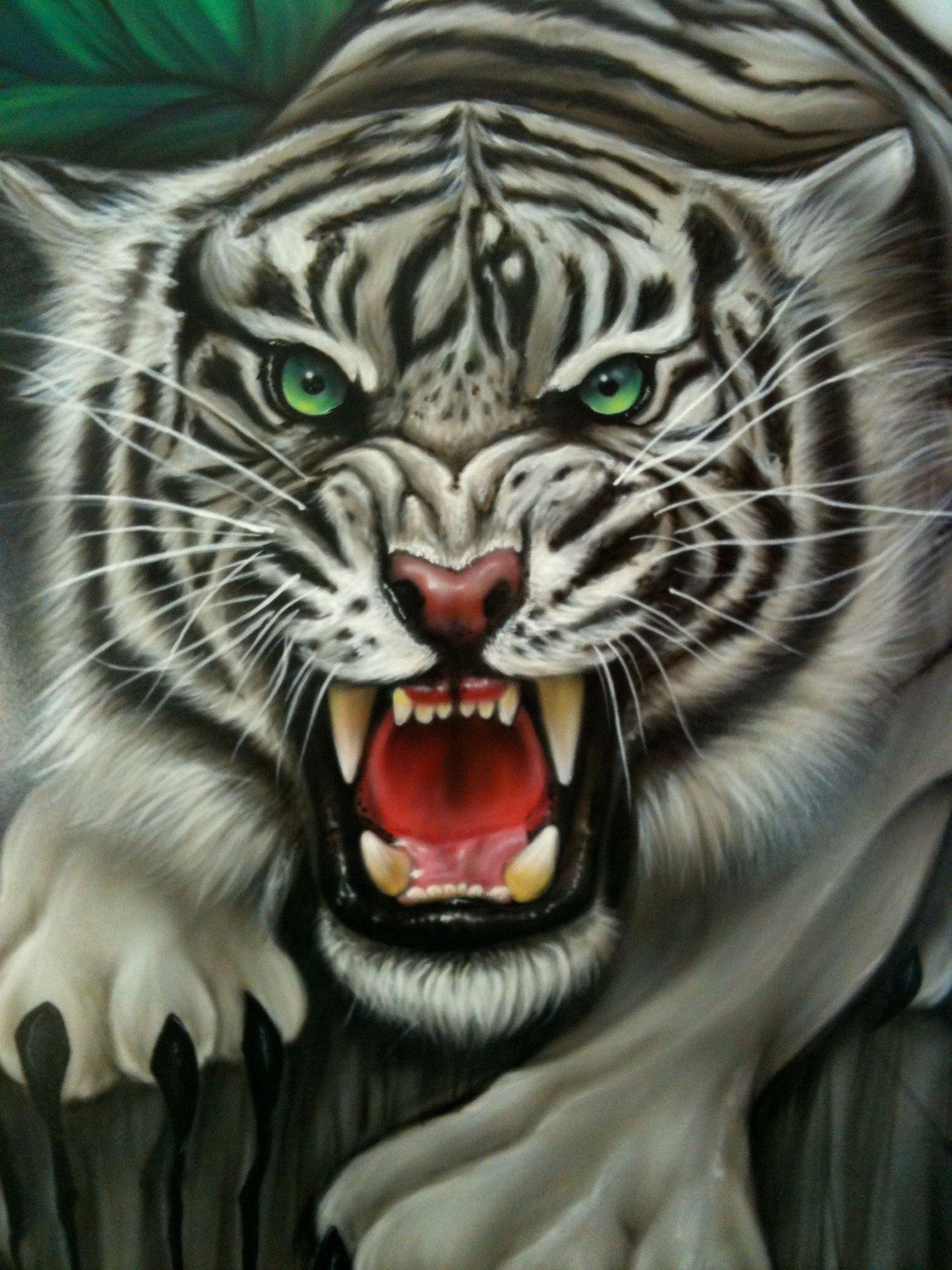 Erotic tigress oil paintings