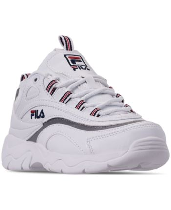 Men's Fila Lace up Canvas Shoes White | Deichmann