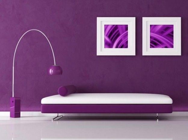 Soggiorno Viola ~ Arredare con il viola viola soggiorno e verde