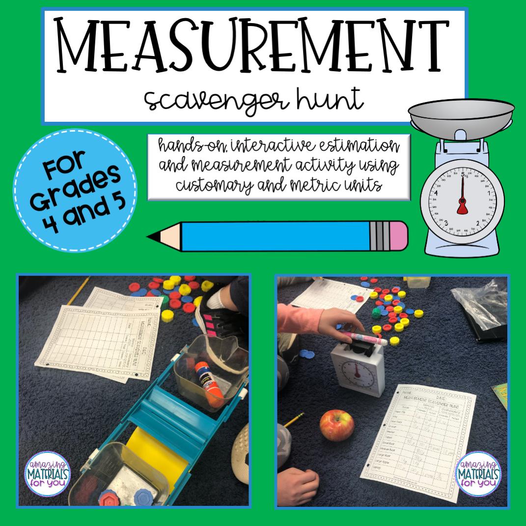 Mass Measurement Scavenger Hunt Measurement Activities Mass Activities Teaching Measurement [ 1071 x 1071 Pixel ]