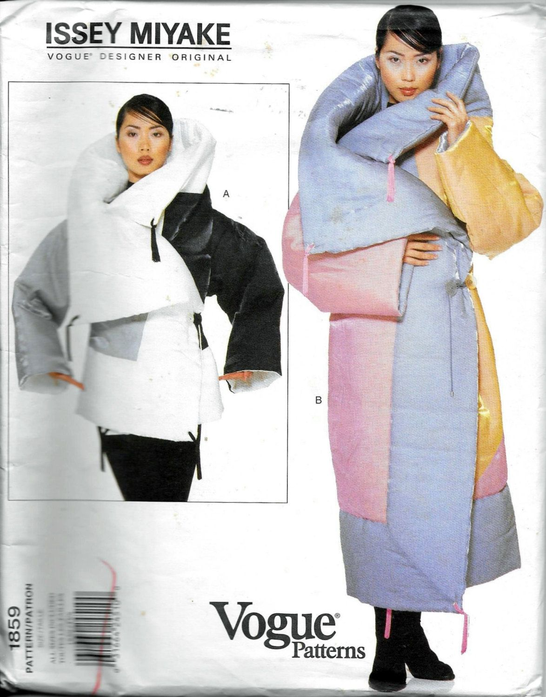 Vintage 1990s Vogue 1859 ISSEY MIYAKE COAT Jacket Sewing Pattern ...