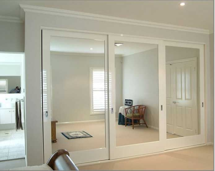 Bedroom Closet Mirror Sliding Doors Home Plan