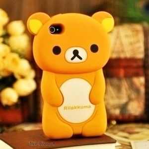 Coque en silicone Ourson pour iPhone 4 / 4G / 4S   Cool phone ...