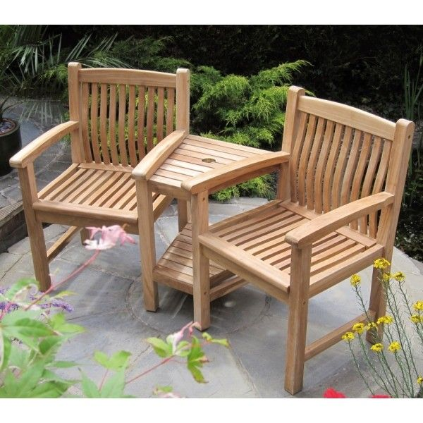 The chairs of this beautifully crafted Teak Companion Seat have curved back rests for extra comfort & The chairs of this beautifully crafted Teak Companion Seat have ...