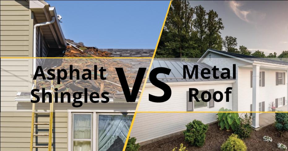 Asphalt Shingles Vs Metal Roof Metal Shingle Roof Asphalt Shingles Shingling