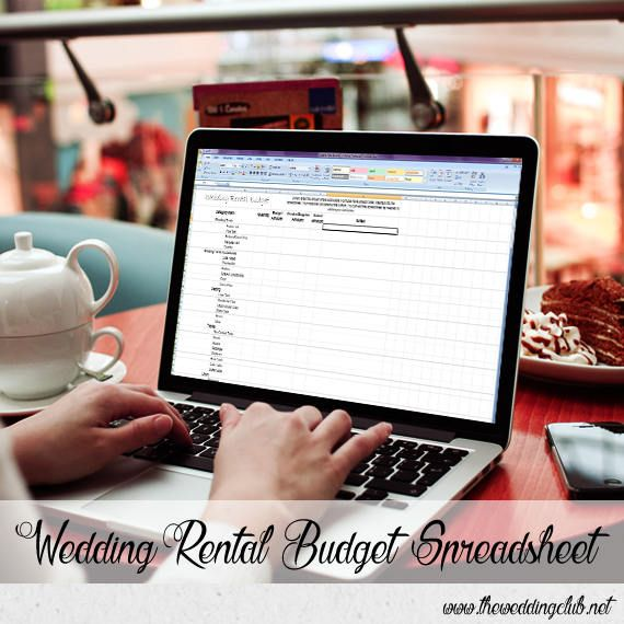 Wedding Rental Budget Spreadsheet Spreadsheet for Managing The