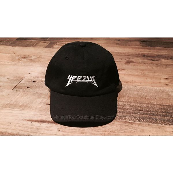 ba25ff96e6fd4 Yeezus Glastonbury Tour Dad Hat Yeezy Kanye West Merch TLOP Dad Cap ( 13) ❤  liked on Polyvore featuring accessories