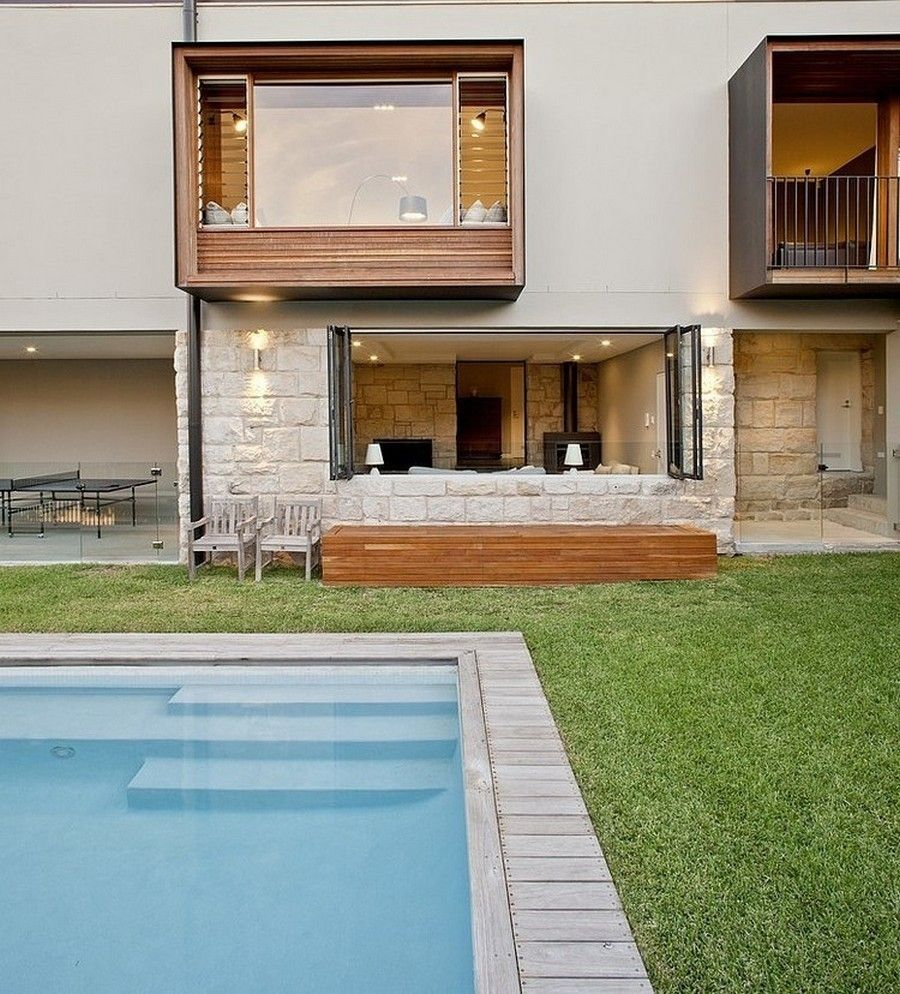 Harbor House Pool: Rchitecture: Swimming Pool And Green Lawn Garden Also