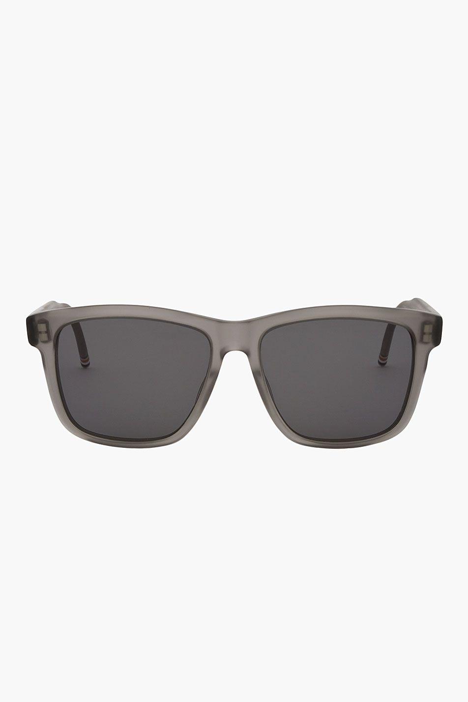 e9ca42176ec7 Thom Browne Matte Grey Wayfarerss - Thom Browne Matte Grey Wayfarerss Thom  Browne Rectangular lens aviator sunglasses in matte grey.