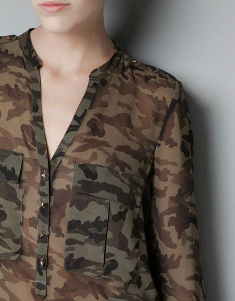 Camisa camuflada  ab163af827cf