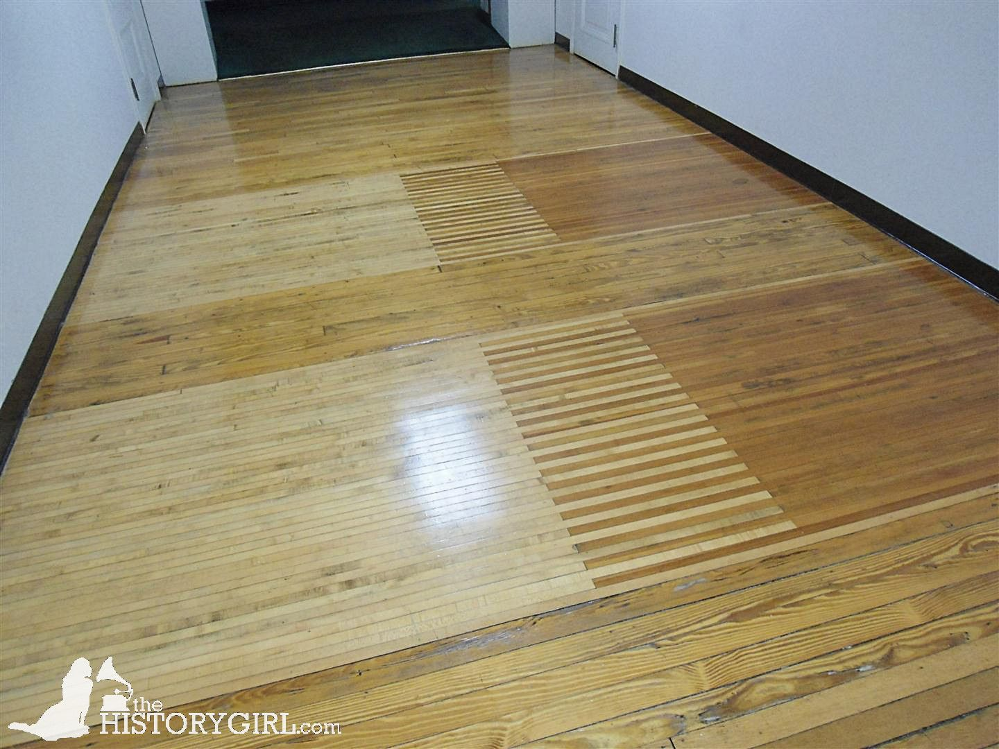 Flooring From The Former Bowling Alley At Woodrow Wilson Hall