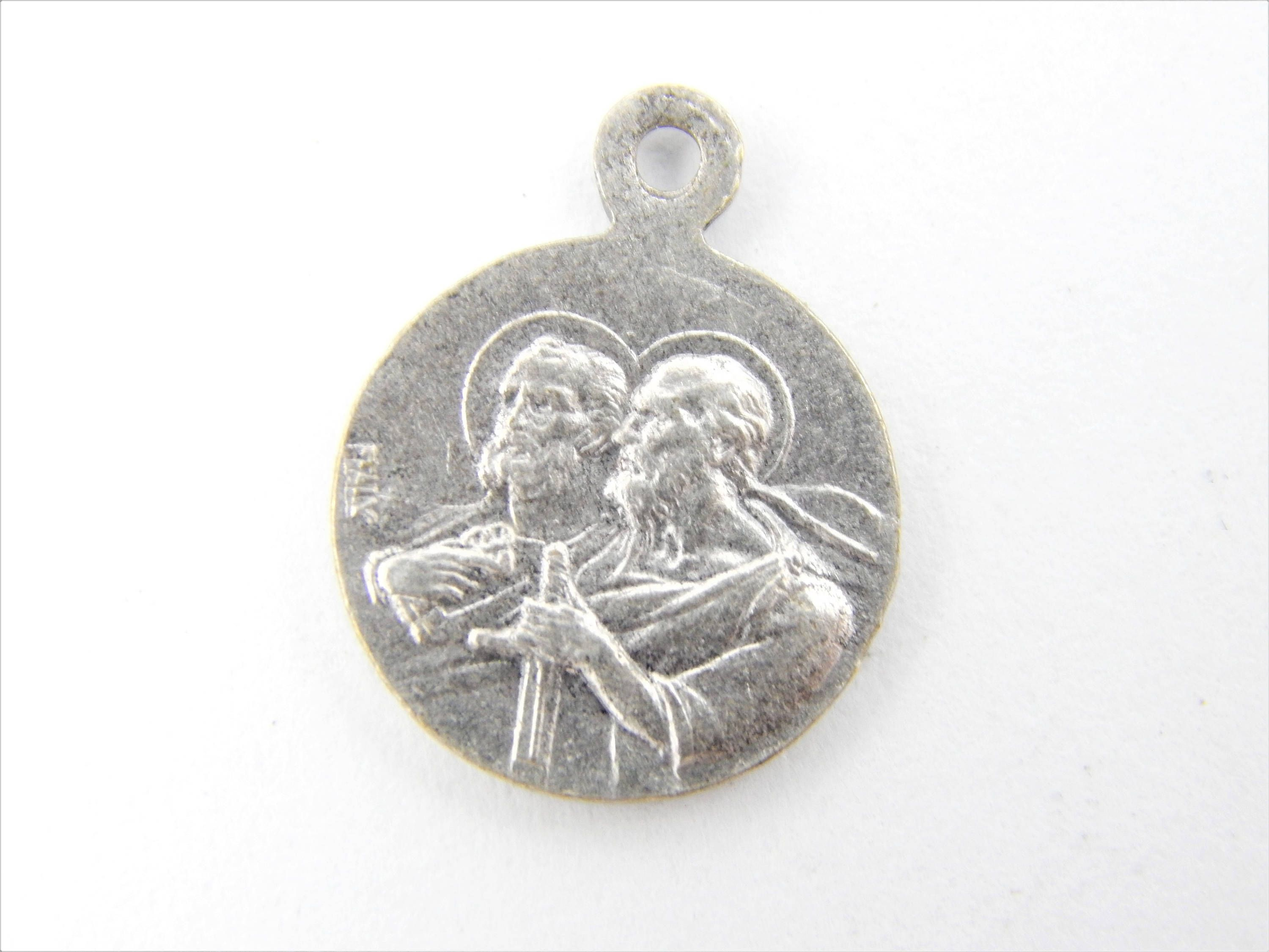 steel saint from medal sterling medallion christopher stainless with silver dp manufacturer the round