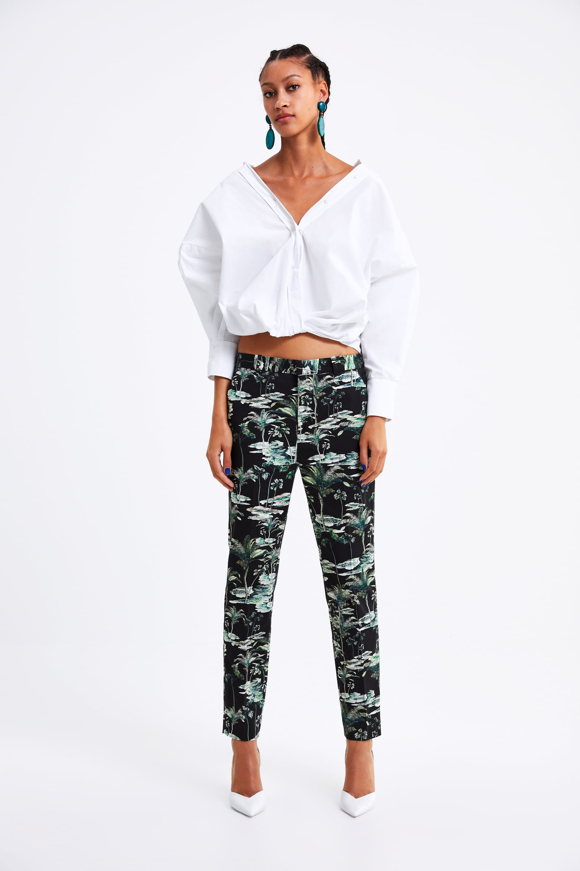 99379e03a5 Palm tree print pants in 2019 | My fashion | Palm tree print ...