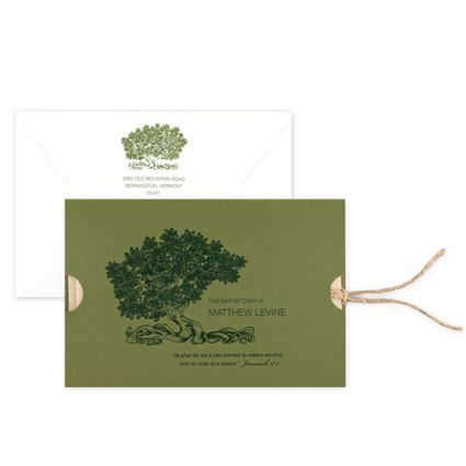 Rooted Bar Mitzvah Invitations :: Checkerboard