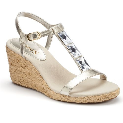 7df86f1dc30 Chaps Dela Women s Espadrille Wedge Sandals from Kohl s