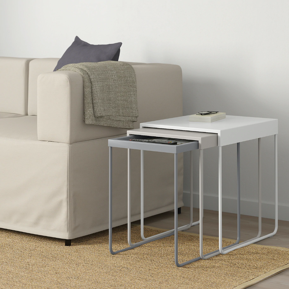 Granboda Nesting Tables Set Of 3 Ikea In 2020 Living Room Table Nesting Tables Small Tables [ 1000 x 1000 Pixel ]